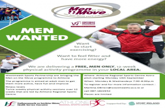 New Men on the Move programme starting in Athlone.